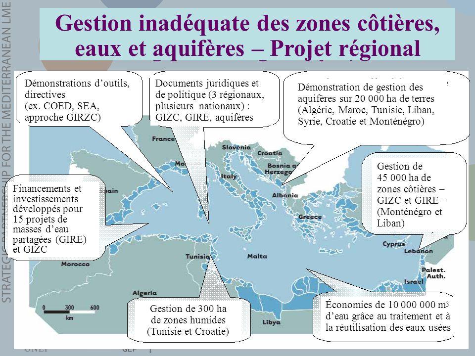 Gestion inadéquate des zones côtières, eaux et aquifères – Projet régional Documents juridiques et de politique (3 régionaux, plusieurs nationaux) : G