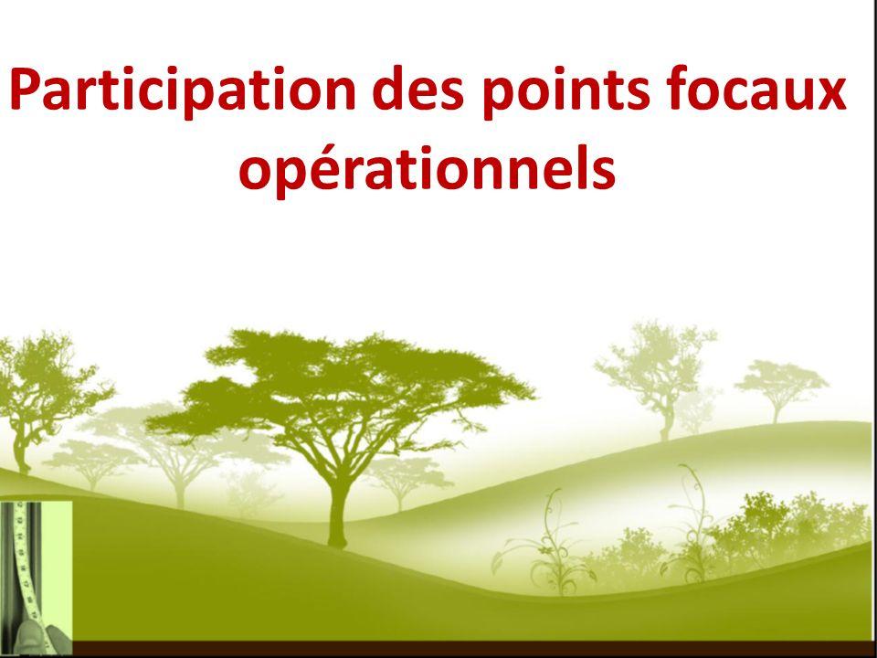 Participation des points focaux opérationnels
