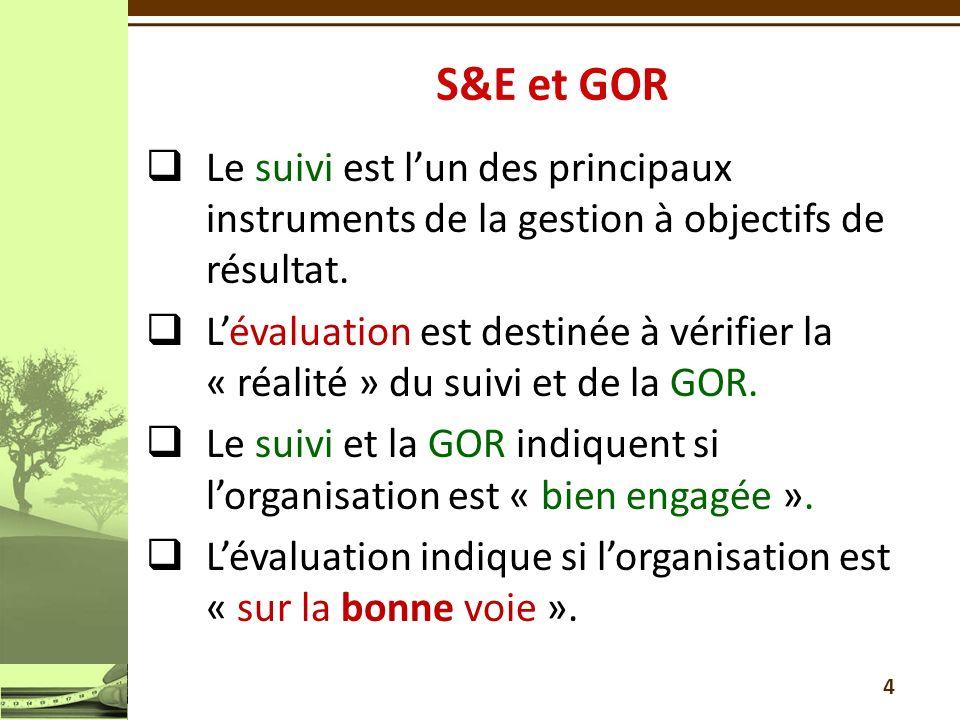 4 Le suivi est lun des principaux instruments de la gestion à objectifs de résultat.