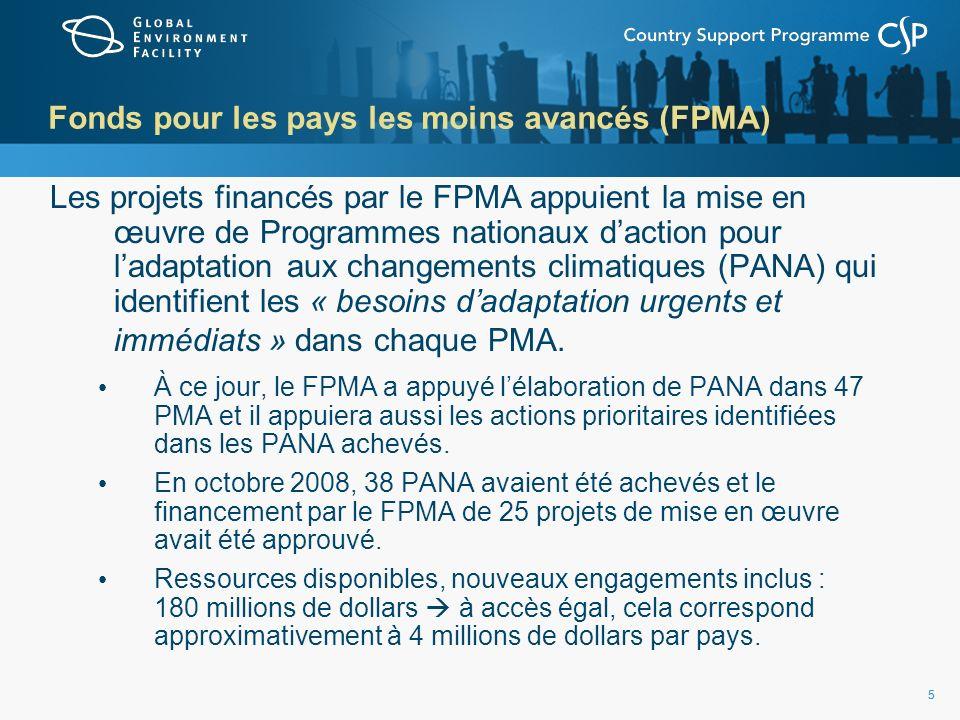 6 Fonds des pays les moins avancés (FPMA)