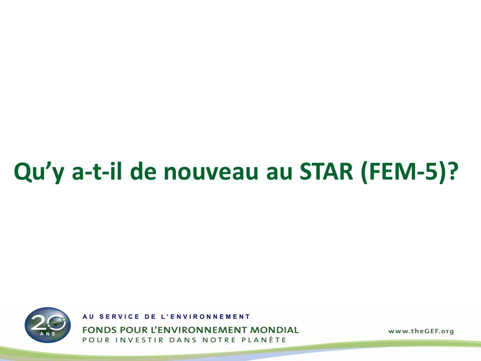 Quy a-t-il de nouveau au STAR (FEM-5)?