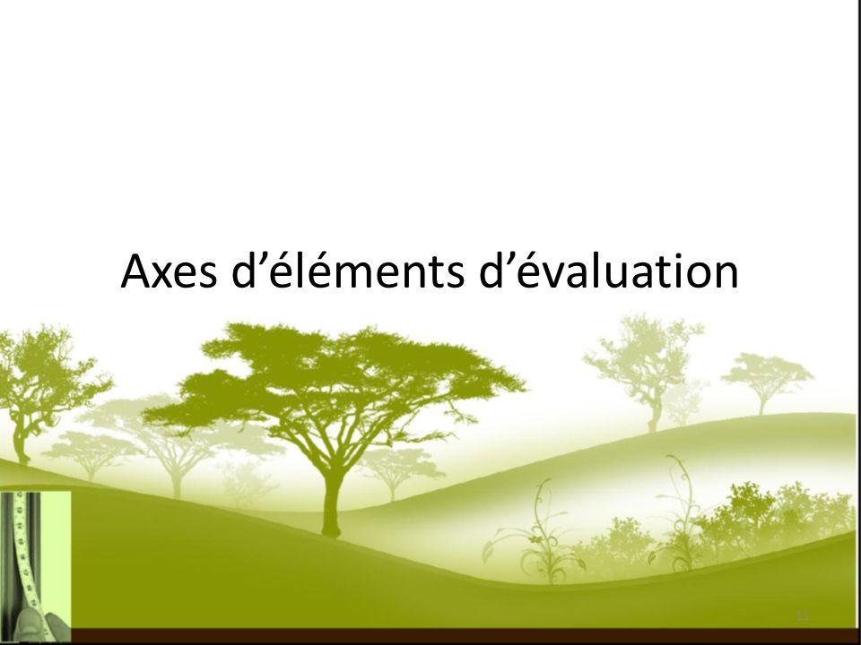 Axes déléments dévaluation 11