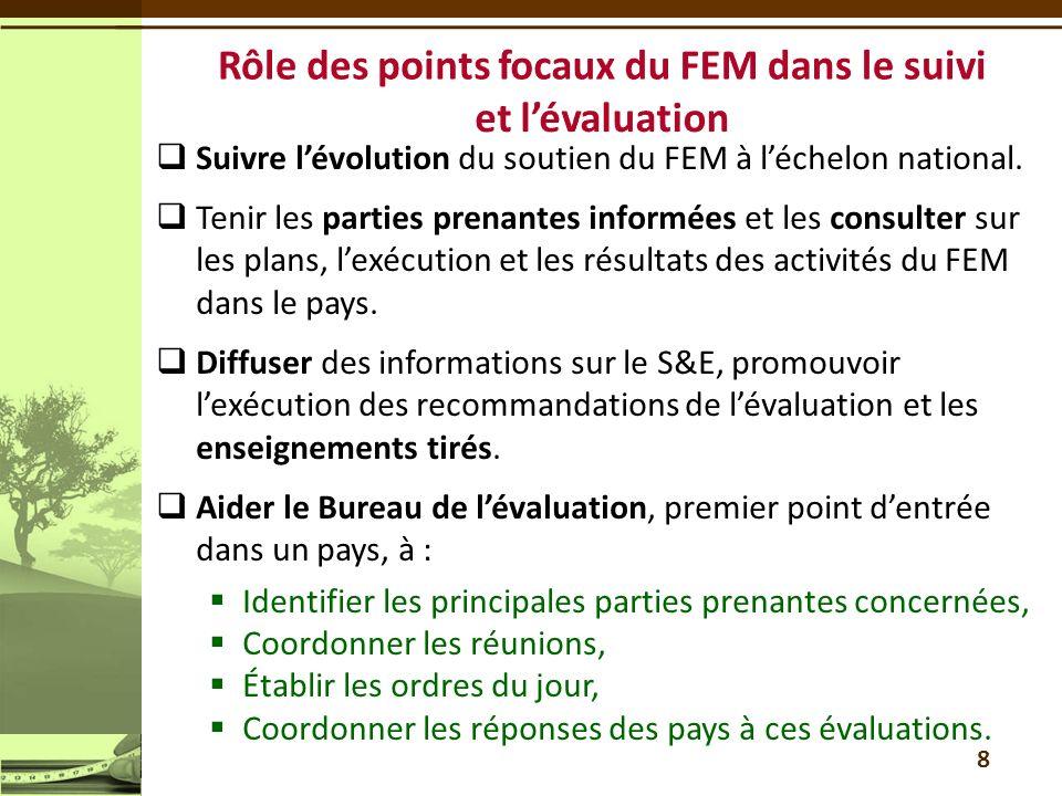 9 Cinquième composante : Renforcer la capacité à surveiller et évaluer les impacts sur l environnement et l évolution de la situation en la matière ; doit avoir la priorité dans le plan dauto-évaluation nationale des capacités à renforcer (ANCR) Le plan de renforcement des capacités doit être formulé en tant que projet de moyenne envergure, ou intégré dans une proposition plus large, sous forme de projet de moyenne ou grande envergure - dans le cas dun projet de moyenne envergure, le cofinancement doit être de 1:1 La formation de partenariats régionaux peut être envisagée Financement à partir du montant de 44 millions de dollars réservé au renforcement des capacités