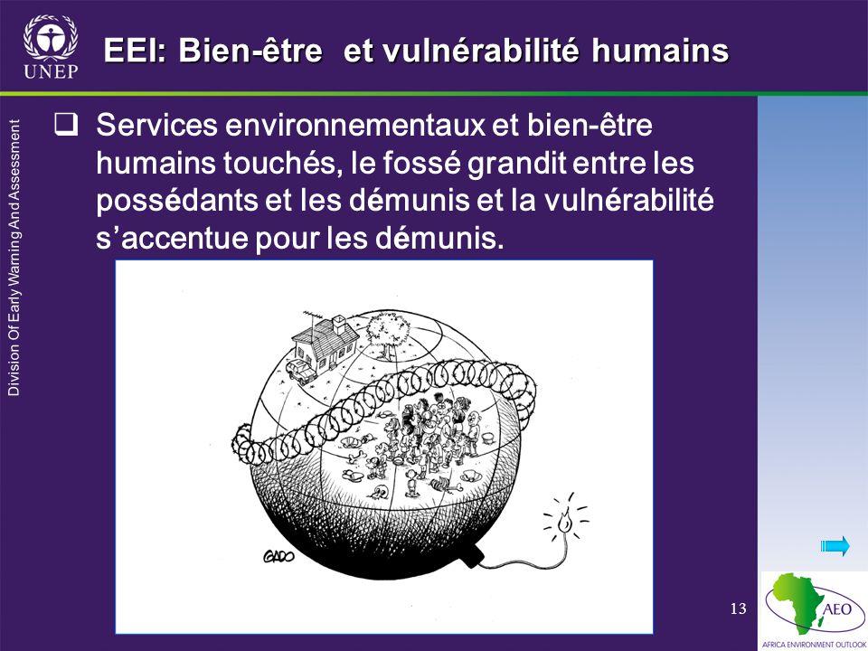Division Of Early Warning And Assessment 13 Services environnementaux et bien-être humains touchés, le fossé grandit entre les poss é dants et les d é munis et la vuln é rabilité saccentue pour les d é munis.