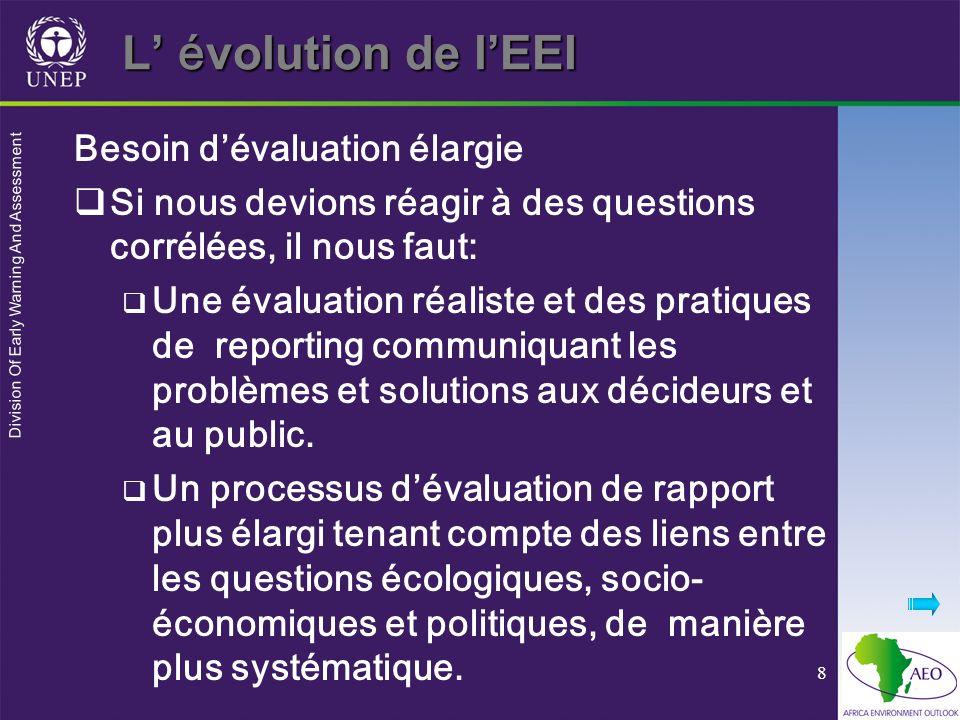 Division Of Early Warning And Assessment 19 Les 5 questions de lEEI 5.Quelle mesure alternative pourrait- être prise (options pour laction).