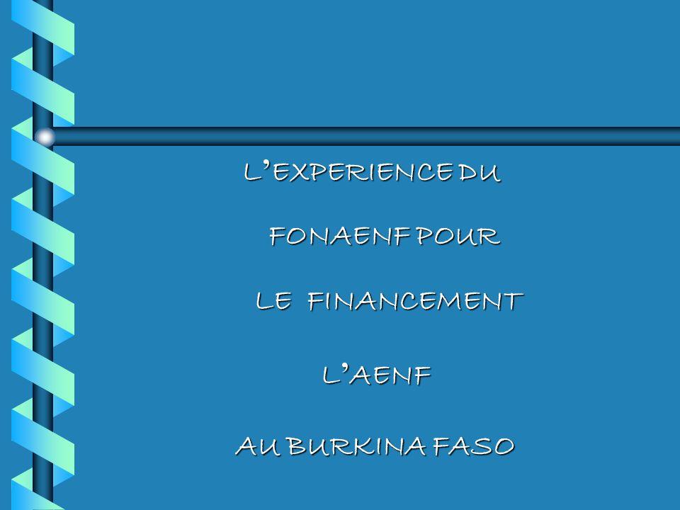 L EXPERIENCE DU FONAENF POUR LE FINANCEMENT L AENF L AENF AU BURKINA FASO AU BURKINA FASO