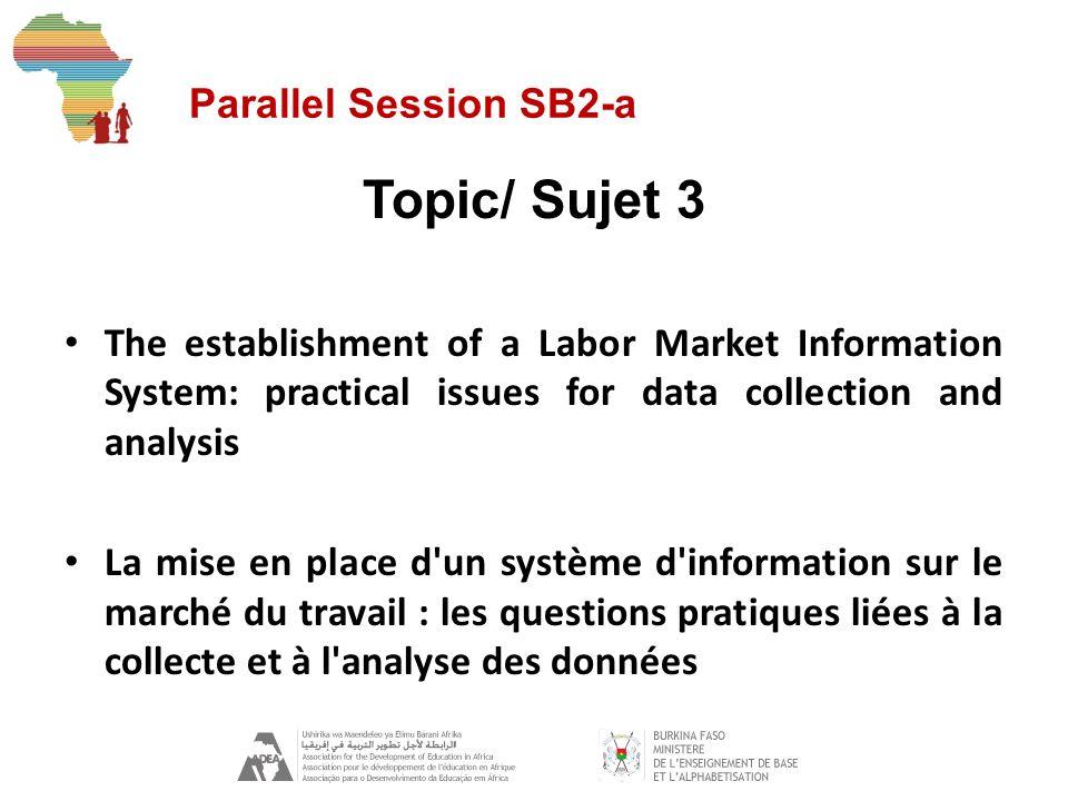 Parallel Session SB2-a Topic/Sujet 4 The identification of growth sectors: the Mali experience Lidentification des secteurs de croissance : l expérience du Mali