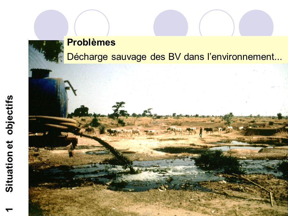 7 1Situation et objectifs Problèmes Décharge sauvage des BV dans lenvironnement...