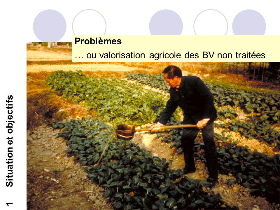 8 1Situation et objectifs Problèmes … ou valorisation agricole des BV non traitées