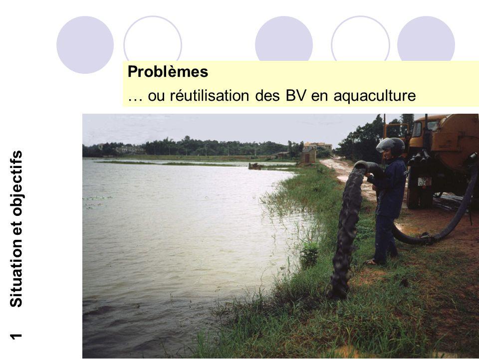 9 1Situation et objectifs Problèmes … ou réutilisation des BV en aquaculture