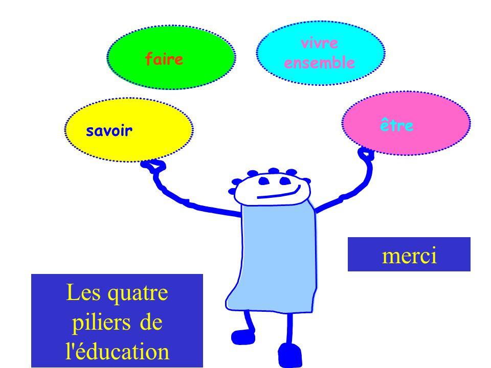 faire vivre ensemble être savoir Les quatre piliers de l éducation merci