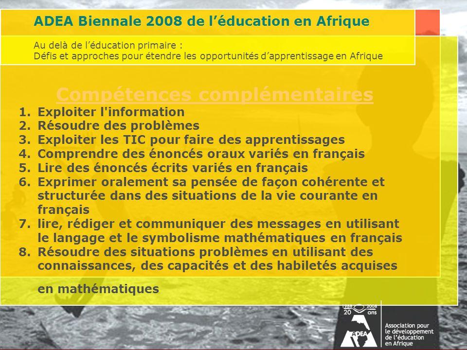 Au delà de léducation primaire : Défis et approches pour étendre les opportunités dapprentissage en AfriqueAssociation for the Development of Educatio
