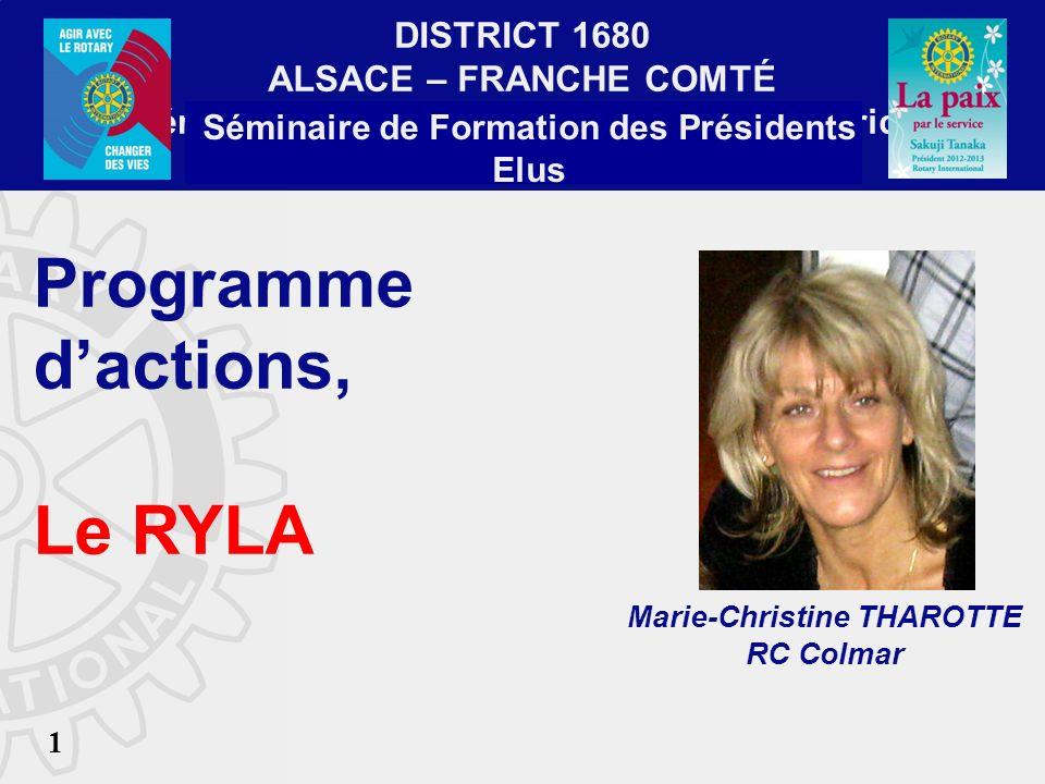 District 1680 Chris THAROTTE RC Colmar SFPE MARS 2013 2