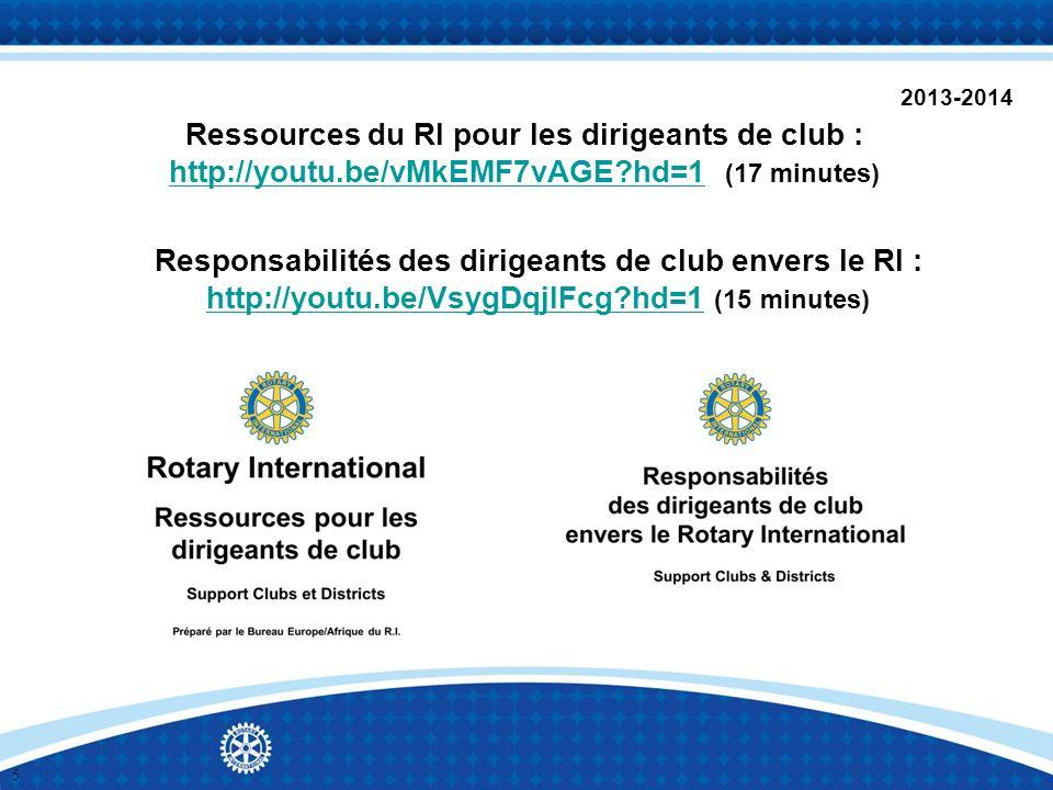 2013-2014 Ressources du RI pour les dirigeants de club : http://youtu.be/vMkEMF7vAGE?hd=1 (17 minutes) http://youtu.be/vMkEMF7vAGE?hd=1 Responsabilité