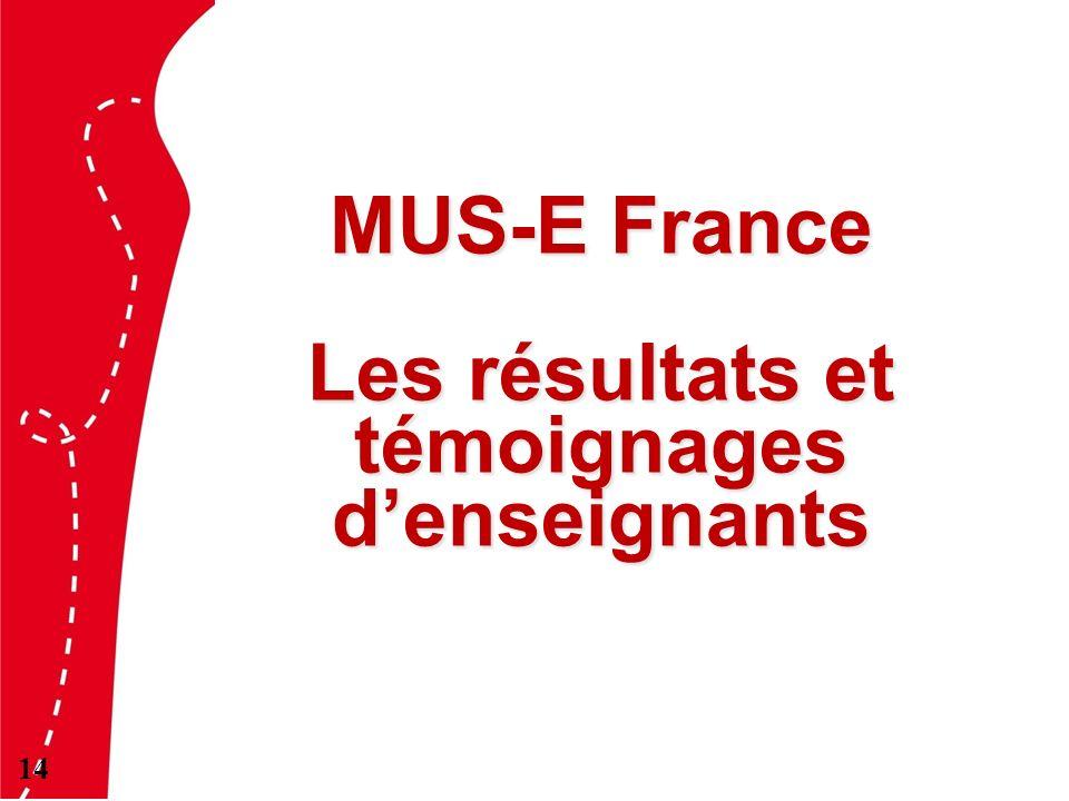 MUS-E France Les résultats et témoignages denseignants 14