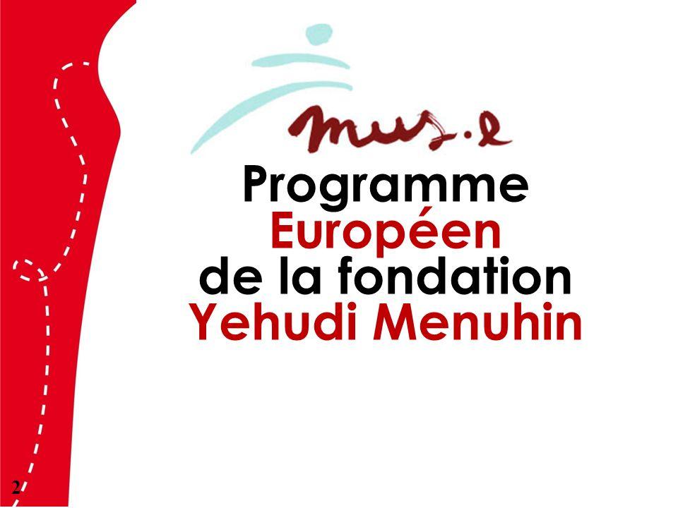 Programme Européen de la fondation Yehudi Menuhin 2
