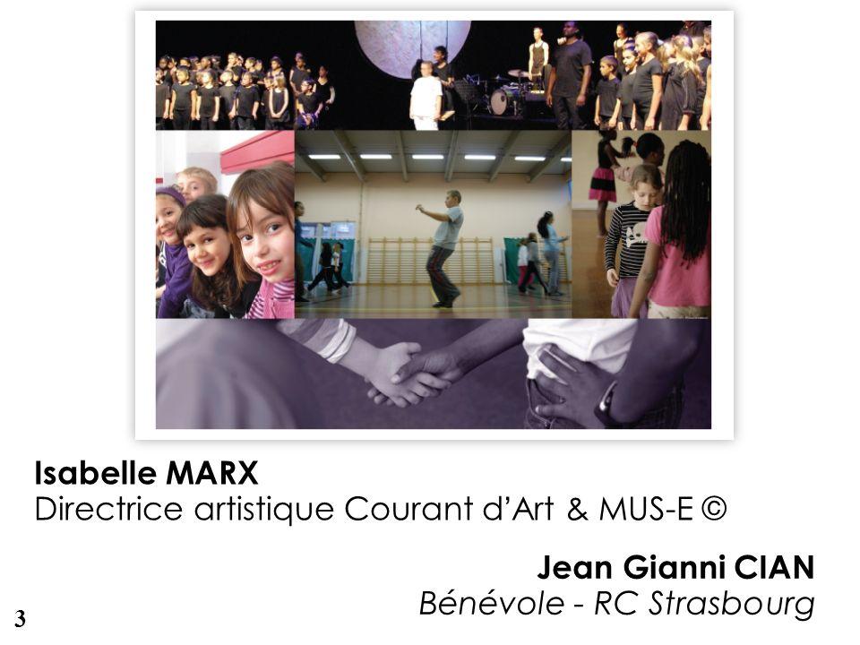 Photo Isabelle MARX Directrice artistique Courant dArt & MUS-E © Jean Gianni CIAN Bénévole - RC Strasbourg 3