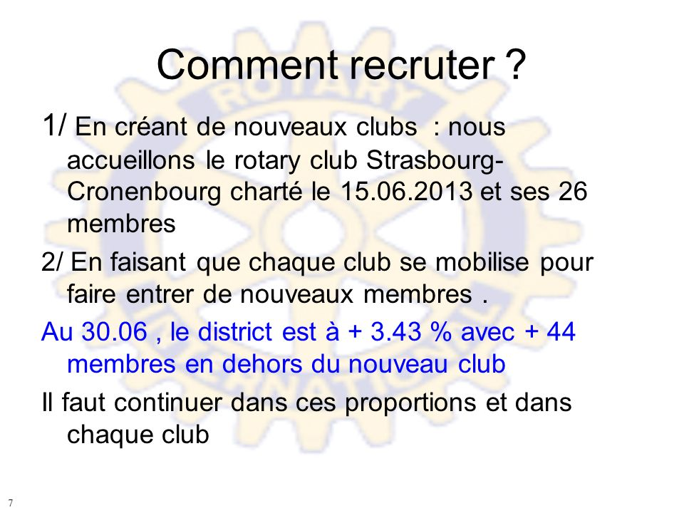 Comment recruter .