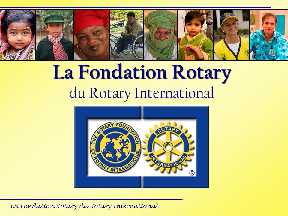 La Fondation Rotary du Rotary International Recommandations Lors constitution du dossier: Prendre le taux du dollar rotarien comme référence pour les calculs Le parrain international doit assurer 50 % des contributions totales du projet