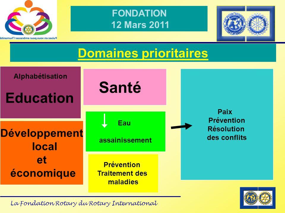 La Fondation Rotary du Rotary International FONDATION 12 Mars 2011 Situation du District 1680 District 1680 non pilote Périodes de transition 2010-2011-2012 A partir de 2013 tous les districts devront être certifiés