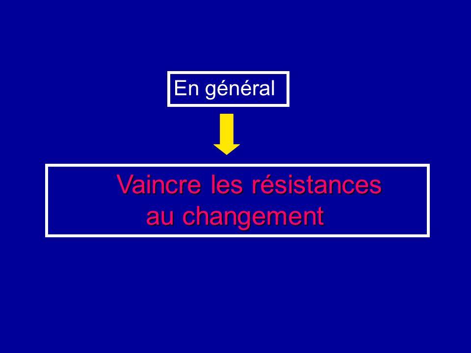 Vaincre les résistances au changement au changement En général