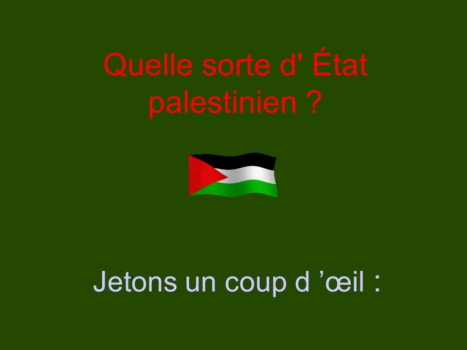 Quelle sorte d État palestinien Jetons un coup d œil :