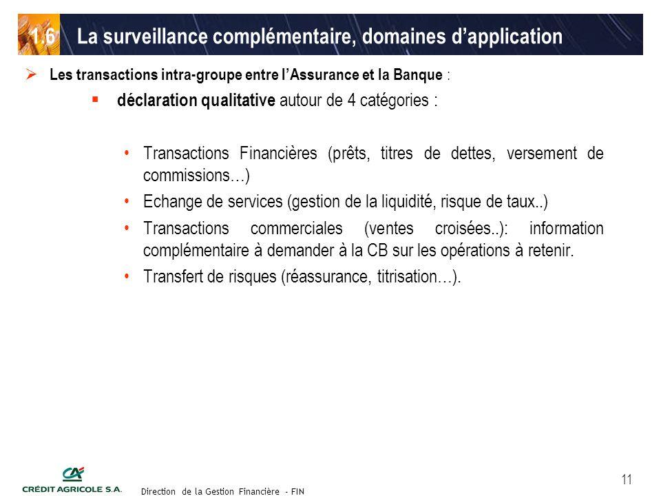Groupe de travail des Directeurs Financiers du 11 septembre 2003 Direction de la Gestion Financière - FIN 11 Les transactions intra-groupe entre lAssu