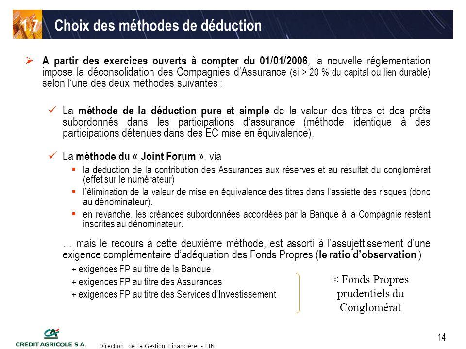 Groupe de travail des Directeurs Financiers du 11 septembre 2003 Direction de la Gestion Financière - FIN 14 A partir des exercices ouverts à compter