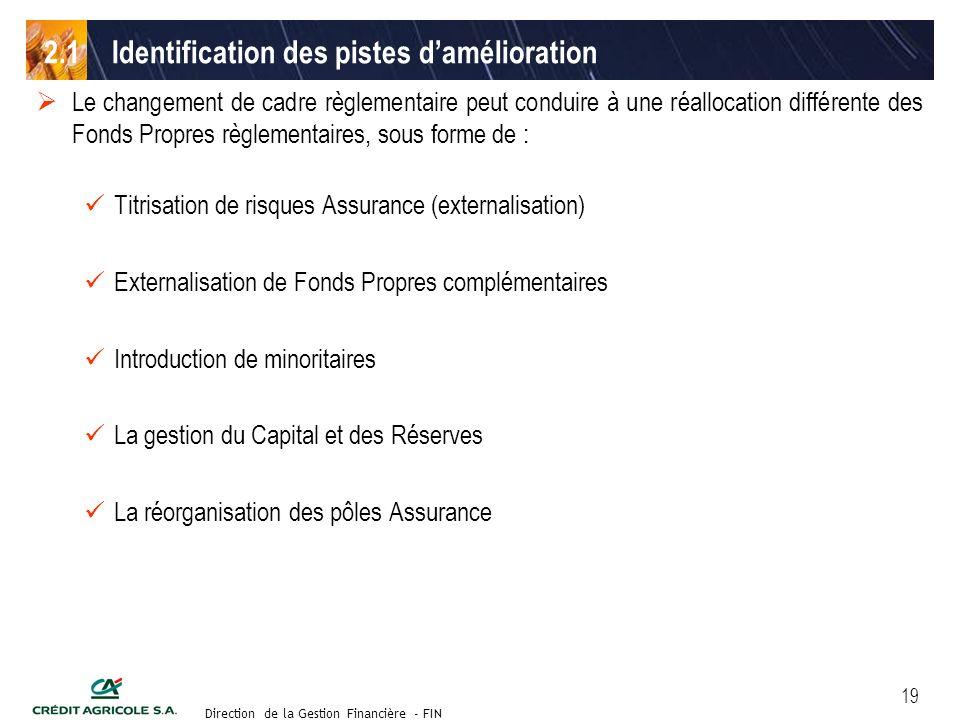 Groupe de travail des Directeurs Financiers du 11 septembre 2003 Direction de la Gestion Financière - FIN 19 Le changement de cadre règlementaire peut