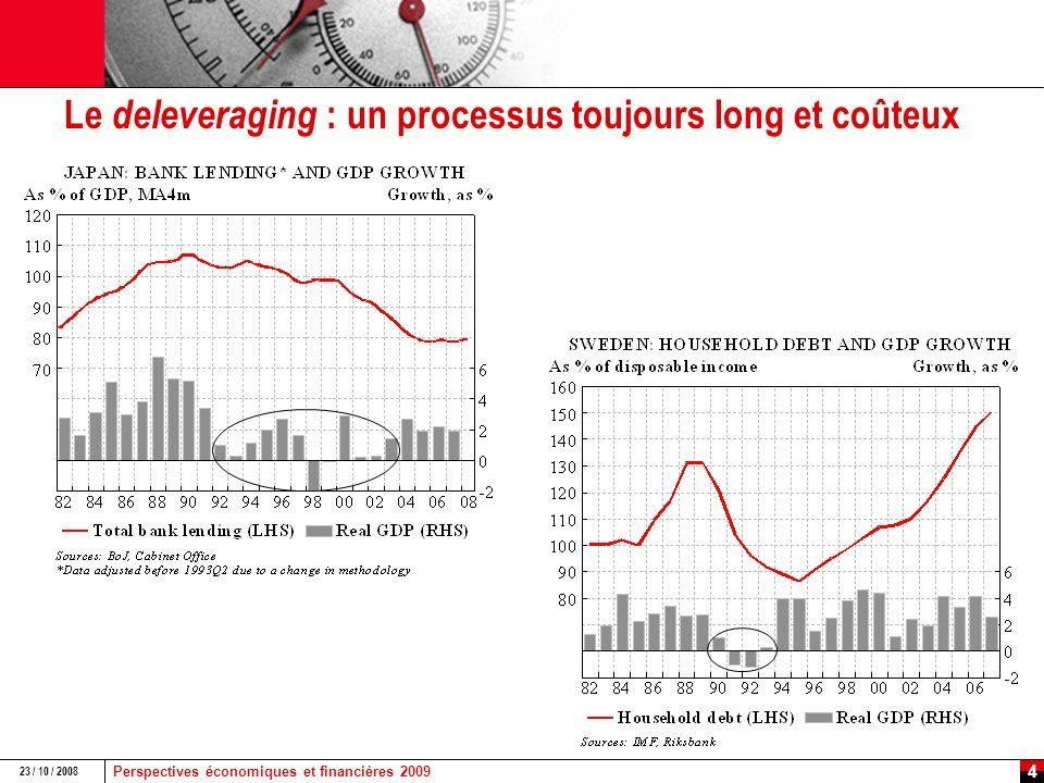 Perspectives économiques et financières 2009 23 / 10 / 2008 3 et en Europe :