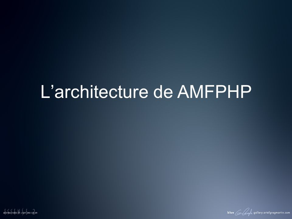Larchitecture de AMFPHP