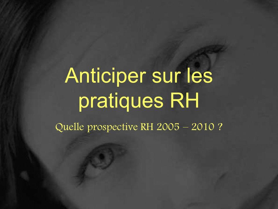 Anticiper sur les pratiques RH Quelle prospective RH 2005 – 2010 ?