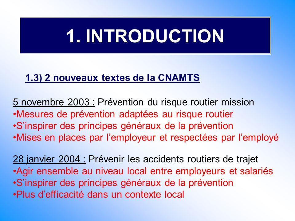 5 novembre 2003 : Prévention du risque routier mission Mesures de prévention adaptées au risque routier Sinspirer des principes généraux de la prévent