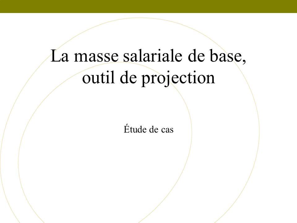 La masse salariale de base, outil de projection Étude de cas