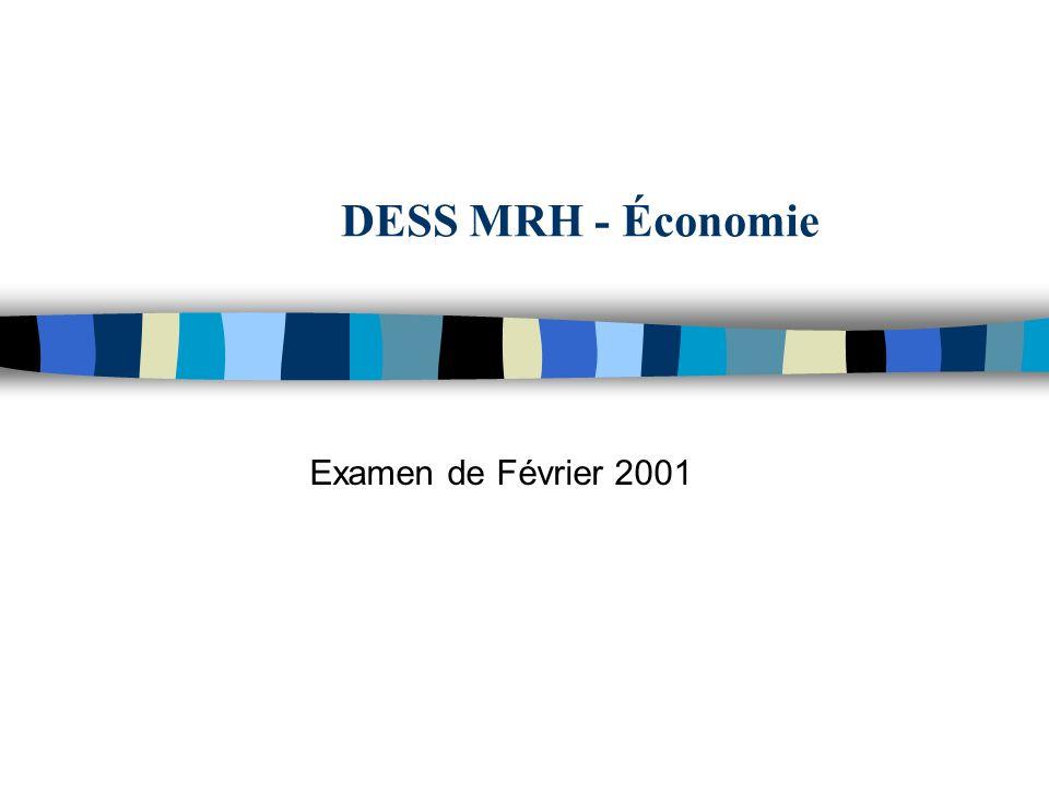 DESS MRH - Économie Examen de Février 2001