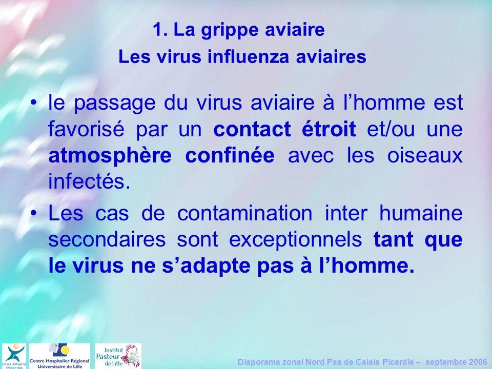 Diaporama zonal Nord Pas de Calais Picardie – septembre 2006 le passage du virus aviaire à lhomme est favorisé par un contact étroit et/ou une atmosph