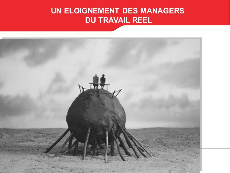 UN ELOIGNEMENT DES MANAGERS DU TRAVAIL REEL