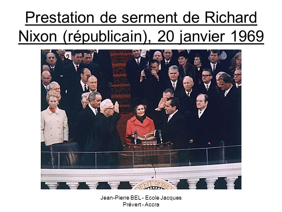 Jean-Pierre BEL - Ecole Jacques Prévert - Accra Prestation de serment de Richard Nixon (républicain), 20 janvier 1969