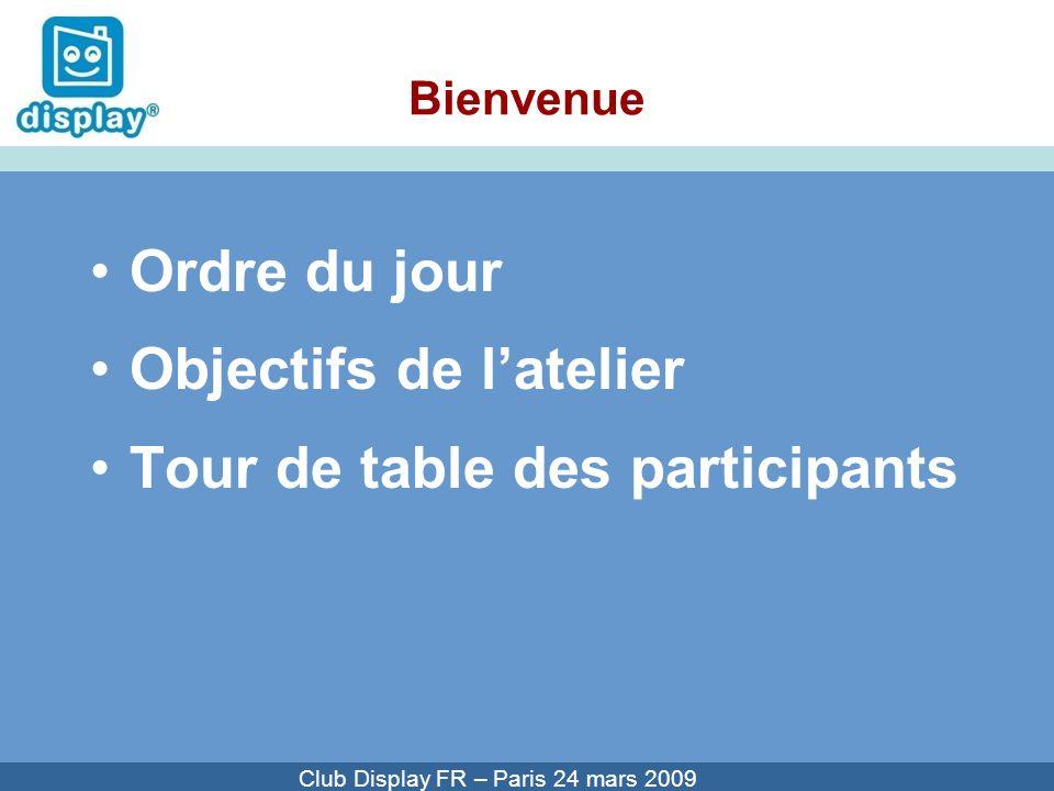 Cliquez pour modifier le style du titre Club Display FR – Paris 24 mars 2009 Campagne Display® Quoi de neuf .