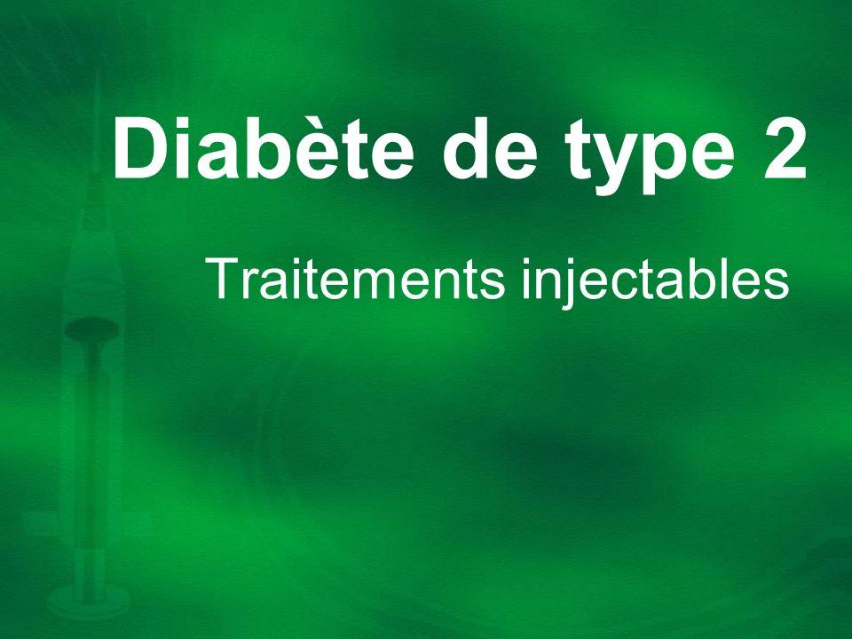Diabète de type 2 Traitements injectables