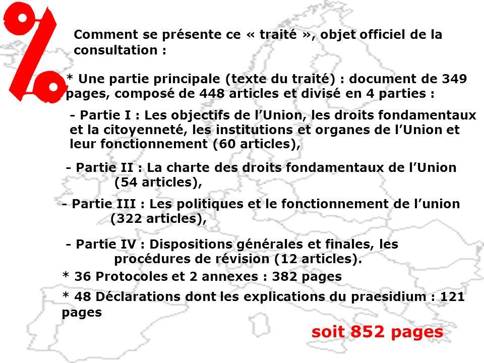 « Approuvez-vous le projet de loi qui autorise la ratification du traité établissant une constitution pour lEurope » Sur quoi allons-nous voter :