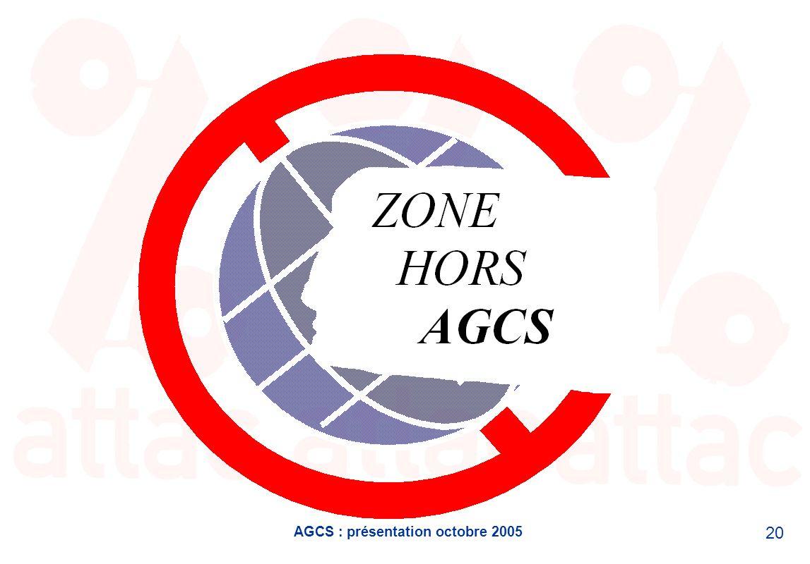 AGCS : présentation octobre 2005 20