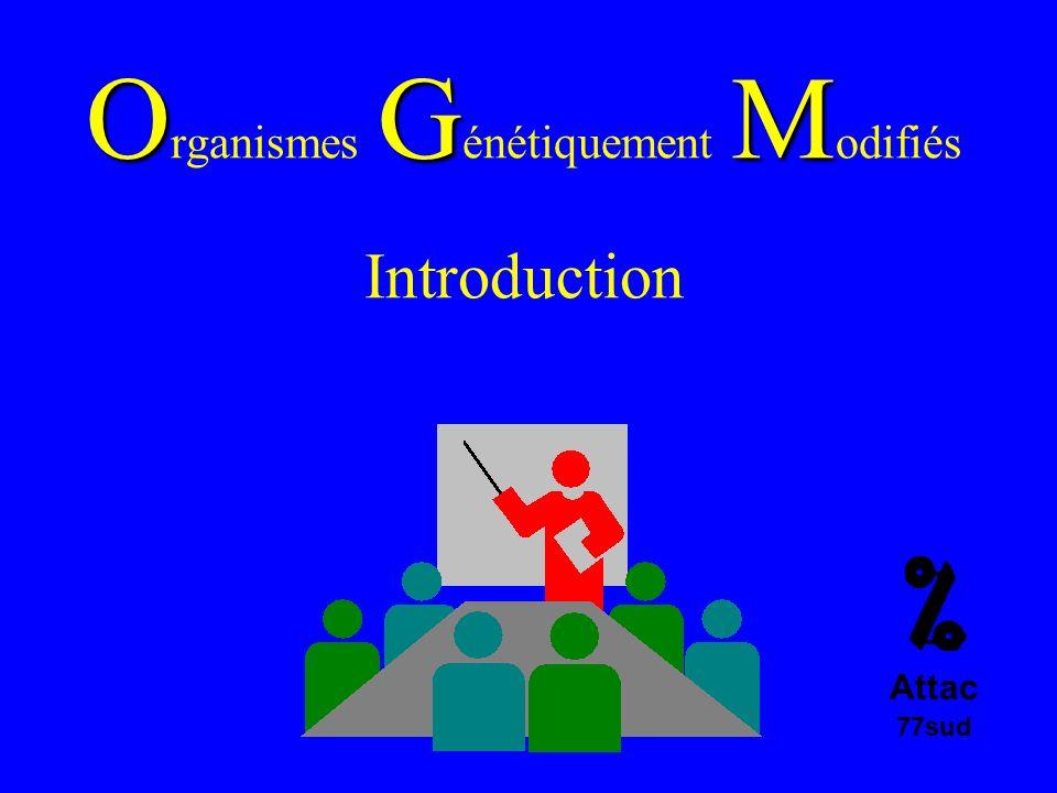 OGM O rganismes G énétiquement M odifiés Introduction Attac 77sud