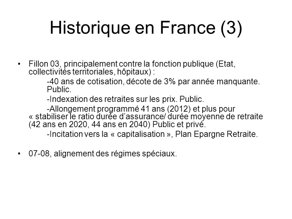 Historique en France (4) Situation spécifique des femmes : 75% des « bénéficiaires » du minimum sont des femmes.