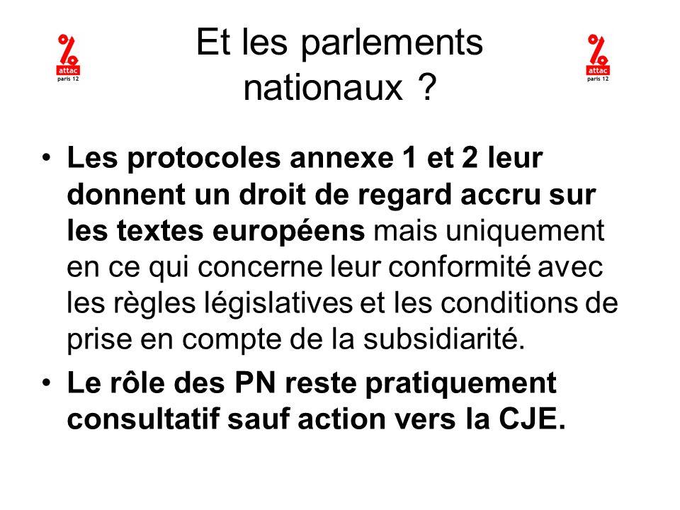 Et les parlements nationaux .