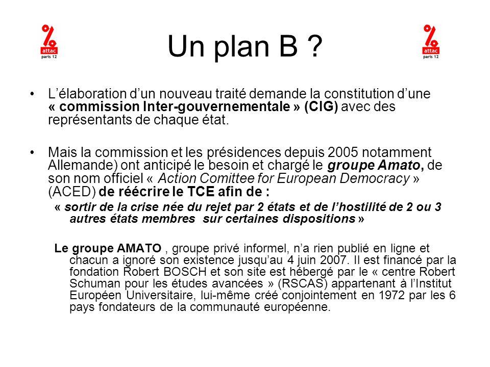 Des politicien chevronnés Guiliano Amato, ministre de lIntérieur Italien, anime ce groupe de 16 « politiciens chevronnés » européens parmi lesquels Michel Barnier et Dominique Strauss Khan.