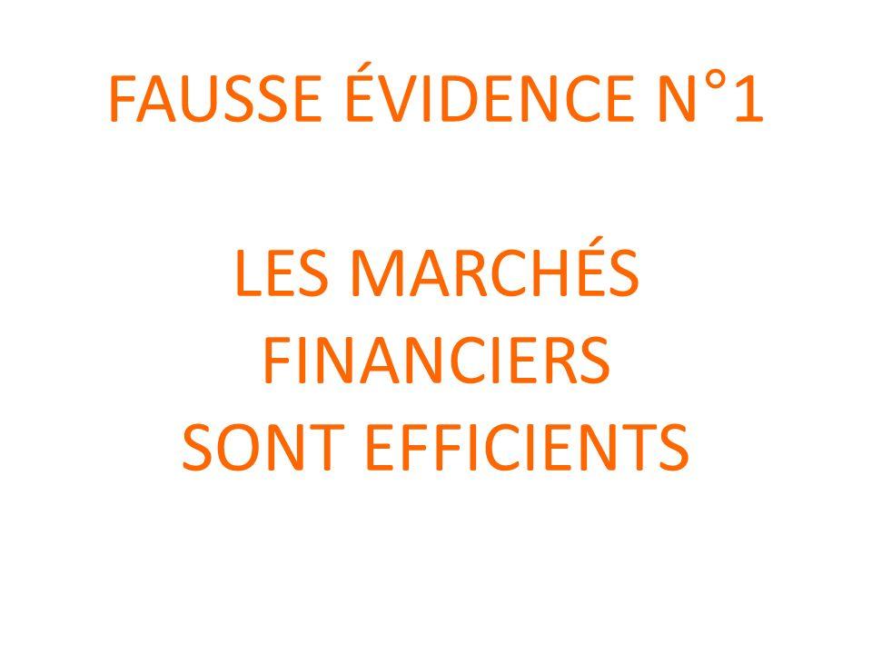 Efficience des marchés financiers .