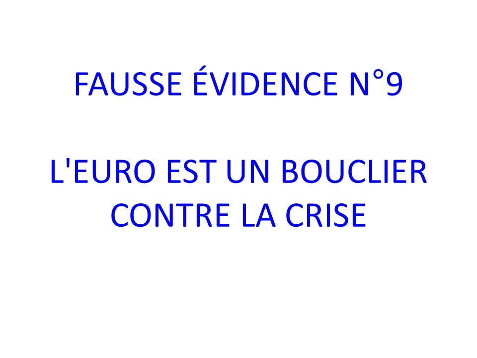 FAUSSE ÉVIDENCE N°9 L EURO EST UN BOUCLIER CONTRE LA CRISE