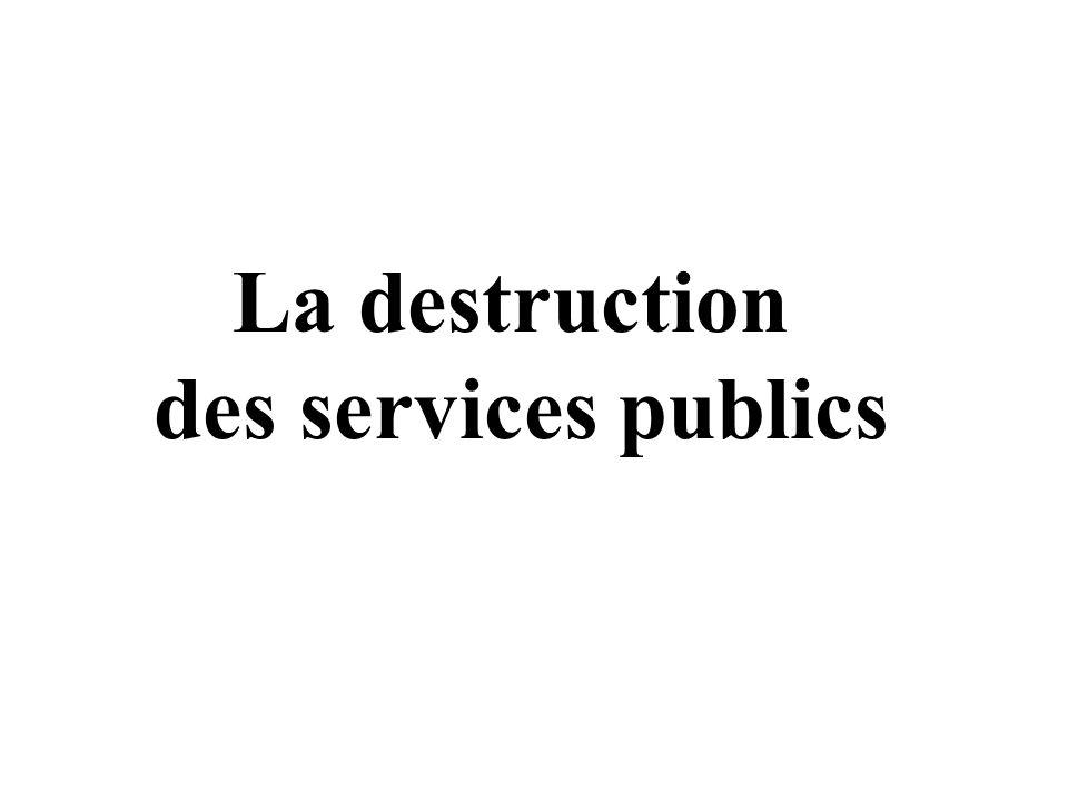 La destruction des services publics