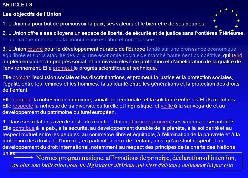 Accès aux services d intérêt économique général Projet de Constitution Européenne - ARTICLE II-96 Service d intérêt économique général = Services Publics .